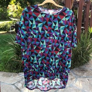 🌺 LulaRoe; Geometric High/Low Style Tunic Sz. XXS